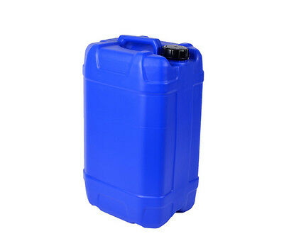 2 X 25 Litre 25L Blue New Plastic Bottle Jerry Can Water Container Carrier