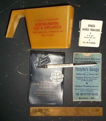 Vintage NOBLESVILLE Indiana Advertising Lot