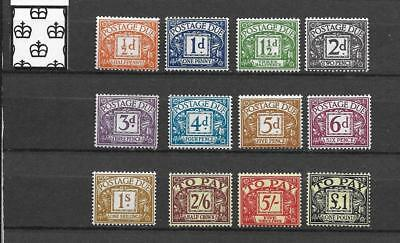 1959 Gb Postage Dues  Crowns  Watermark Mnh Set Of 12 Different To £1