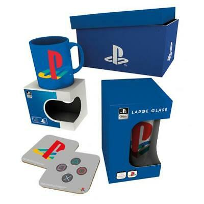 Playstation Gift Set Mug Glass Coaster Fan Gift Fun Official Licensed Product