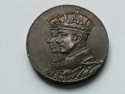 Canada King George VI & Queen Mother 1939 Royal Visit Medal - Small (25mm) Type