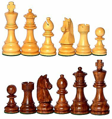 """3.75"""" / 9.525 CM - King Height Collector Edition Wood Chess Pieces Staunton Figu"""