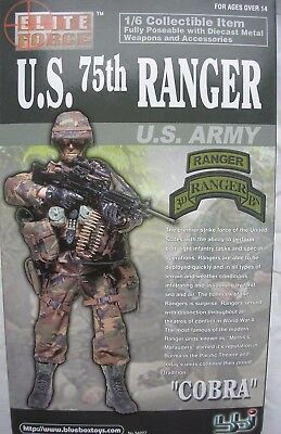 """BBI Elite Force collectable action figure 1/6 scale 12"""" US 75th Army Ranger"""