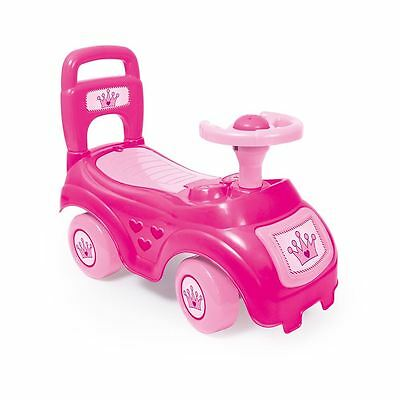 Dolu Sit & Ride On Pink Car Vehicle Toy Storage Under Seat Childrens Push Along
