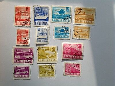 Romania Transport Stamps Set of 14