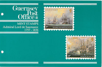 Great Britain, Guernsey, Two Folders with Ship Stamps. Scott 325-329 & 367-371