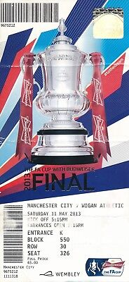 TICKET: FA CUP FINAL 2013 Manchester City v Wigan