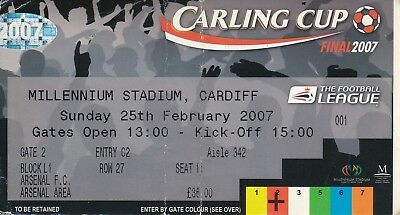 TICKET: LEAGUE CUP FINAL 2007 Arsenal v Chelsea