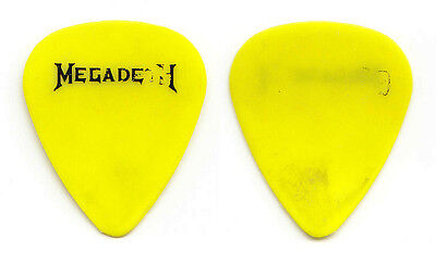 Vintage Megadeth Dave Mustaine Concert-Used Yellow Guitar Pick