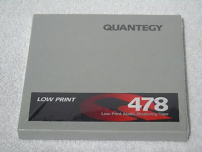 1 x Brand New & Sealed Quantegy 478 Low Print 7in 1/4in Wide Reel To Reel Tape