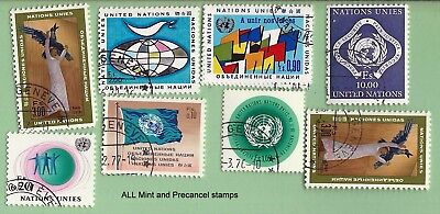 United Nations lot of  Mint Precancel stamps