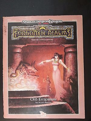 "FORGOTTEN REALMS ""OLD EMPIRES"" AD&D 2nd TSR FR10 Complete With MAP #9274 - 1990"