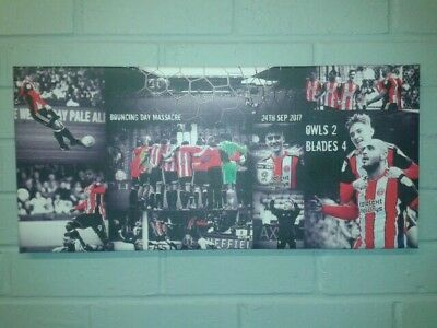 "Sheffield United ""Bouncing Day Massacre"" Canvas"