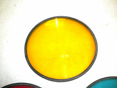 Eight inch poly optical traffic signal lenses YELLOW and GREEN  (6 ea)