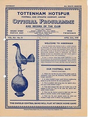 Tottenham v Hibernian (Friendly) 1949