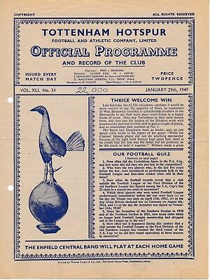 Tottenham v Middlesbrough (Friendly) 1948/9