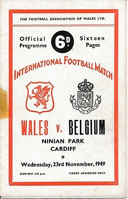 Wales v Belgium (Friendly International @ Cardiff) 1949