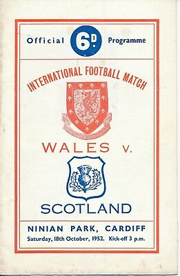 Wales v Scotland (Home International Cardiff City) 1952