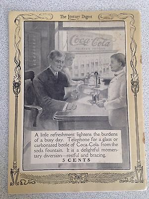 1906 May 5th Issue of The Literary Digest with A Very Early Coca Cola Ad