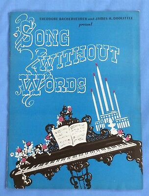 Vintage Theater Program   Song Without Words