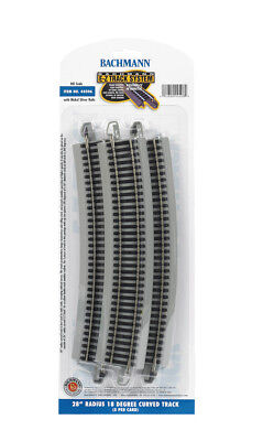 "Bachmann 28"" Radius 18 Degree Curved Track (5 Pack) (HO) 44506 BAC44506"