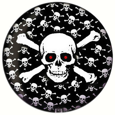 Bowling Ball Brunswick Viz-A-Ball Skull Crazy Totenkopf Skull and Bones 14 lbs