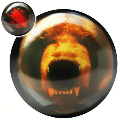 Bowling Ball Brunswick Viz-A-Ball Grizzly Bear Bär Motiv Bowlingkugel 12 lbs