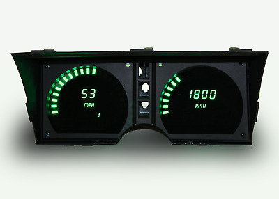 C3 Corvette 1978-1982 LED Digital Dash Gauge Instrument Cluster Direct Fit Green