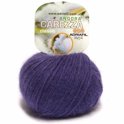 Adriafil Carezza Angora Aran Yarn / Wool 25g - Purple (90)