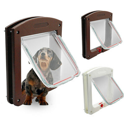 Cat Flap Small Dog Pet Cat & Dog Magnetic Lockable Door 2/4 Way Flap Stay Safety
