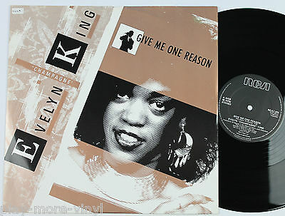 """EVELYN CHAMPAGNE KING Give Me One Reason 12"""" vinyl UK 1985 RCA plays NM!"""
