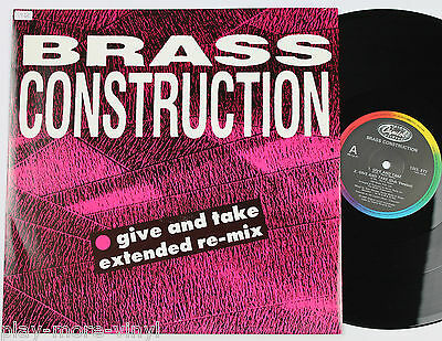 """BRASS CONSTRUCTION Give And Take / Vintage Medley 12"""" vinyl UK 1985  plays NM!"""