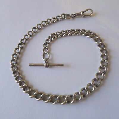 Sterling Silver Watch Chain B H Britton & Sons Graduated Links Hallmarked 1930