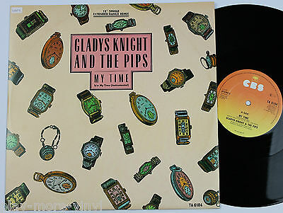 """GLADYS KNIGHT & THE PIPS My Time 12"""" vinyl UK 1985 CBS  plays NM!"""