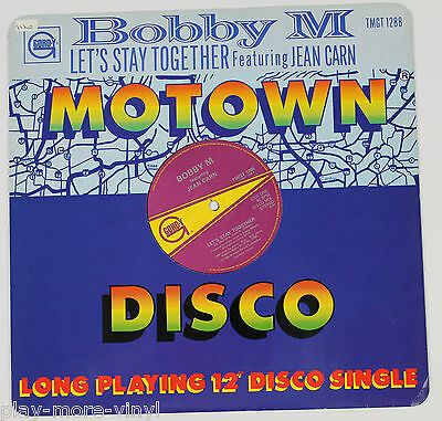 """BOBBY M  Let's Stay Together/Charlie's Backbeat 12"""" vinyl UK 1982 Gordy plays NM"""