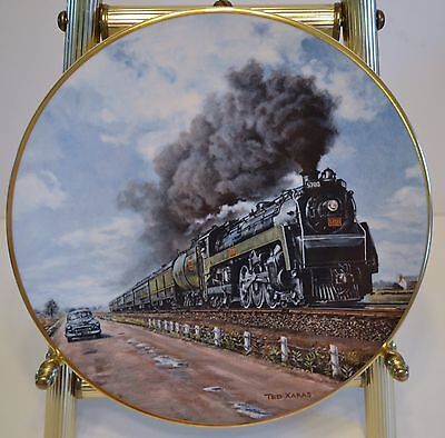 TED XARAS NO CONTEST COLLECTIBLE PLATE - Third in the Age of Steam Series