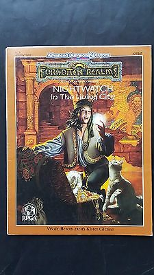 "AD&D 2nd Ed "" NIGHTWATCH In The LIVING CITY"" FORGOTTEN REALMS #9316 LC3 TSR VNC"