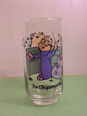 "Bagdasarian Productions Chipmunks with ""Simon"" Drinking Glass 1985"