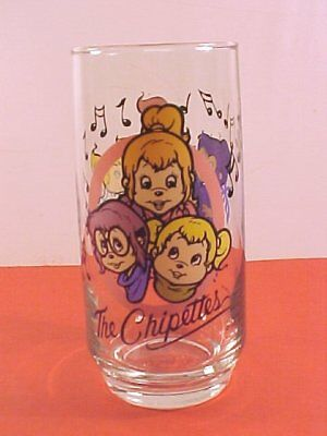 "Karman/Ross Productions ""Chipettes"" Drinking Glass"