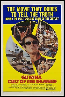 Original 1979 GUYANA CULT OF THE DAMNED 27x41 One Sheet Movie Poster VF