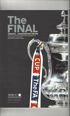 Arsenal v Manchester United FA Cup Final 2005 Football Programme