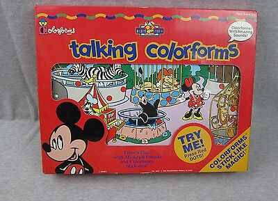NEW Vintage Talking Colorforms Playset SEALED 1993 Disney Mickey Mouse & Friends