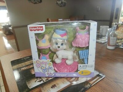 Fisher Price Snap Style Pets Shih-Tzu Ginger New in Box