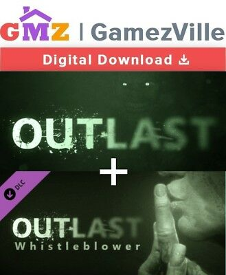 Outlast + Whistleblower DLC Steam Key PC Digital Download Code [EU/US/MULTI]