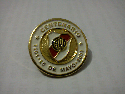 Club Atletico River Plate - Ultra Rare I Centenary Conmemorative Pin / 1901-2001