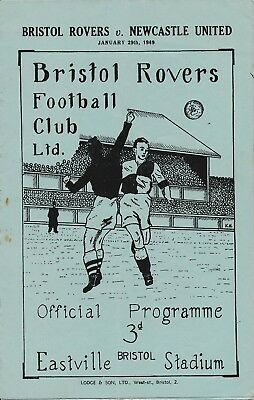 BRISTOL ROVERS v Newcastle United (Friendly) 1948/9
