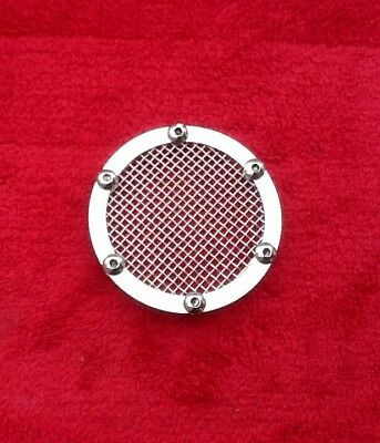 LAMBRETTA Stainless Steel 80mm Carburettor Inlet Air Plate - Mesh