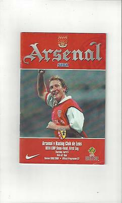 Arsenal v Racing Club de Lens UEFA Cup Semi Final 1999/00 Football Programme