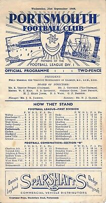 PORTSMOUTH v Denmark X1 (Friendly) 1949/50