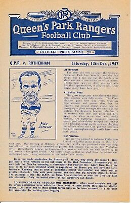QPR v Rotherham United (Friendly) 1947/8
